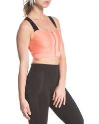 Lime & Vine - Kathleen Zip Front Criss-cross Back Sports Bra - Lyst