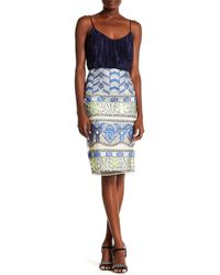 Eci - Embroidered Print Skirt - Lyst