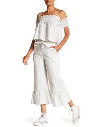 English Factory - Striped Ruffled Pants - Lyst