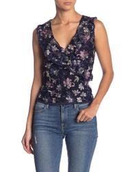 Cupcakes And Cashmere - Jeanie Floral Embroidered Top - Lyst