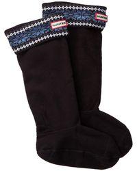 HUNTER - Original Tall Fairisle Boot Socks - Lyst