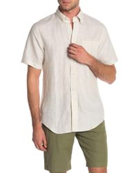 Brooks Brothers - Sol Short Sleeve Linen Slim Fit Shirt - Lyst