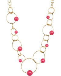 Trina Turk - Stone Circle Chain Necklace - Lyst