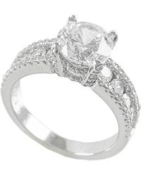 Kenneth Jay Lane - Round Cz Channel Side Ring - Lyst