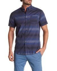 Indigo Star - Adam Short Sleeve Print Tailored Fit Shirt - Lyst