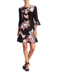 Vince Camuto - Boatneck Bell Sleeve Dress (petite) - Lyst