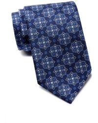 David Donahue - Printed Silk Tie - Lyst