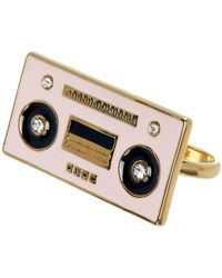 Kate Spade - Jazz Things Up Boom Box Ring - Lyst