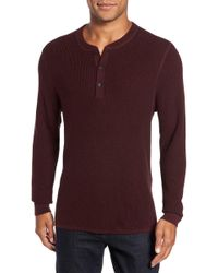 Nordstrom - Cotton & Cashmere Henley Sweater - Lyst