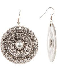 TMRW STUDIO - Engraved Circle Earrings - Lyst