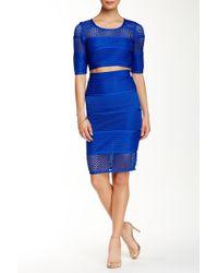 Wow Couture | 2-piece Mesh Crop Top & Skirt Set | Lyst