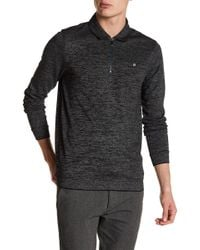 Ted Baker - Long Sleeve Textured Jersey Polo - Lyst