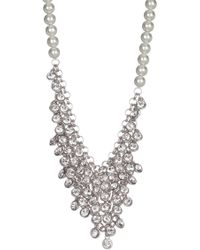 c.A.K.e. By Ali Khan - Shaky Crystal Faceted Glass Pearl Necklace & Earrings 2-piece Set - Lyst