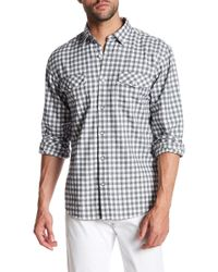 James Campbell - Fausto Checked Long Sleeve Regular Fit Shirt - Lyst