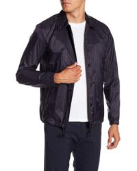 Theory - Coaches Striped Jacket - Lyst
