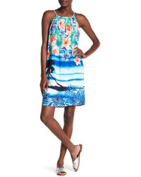 Tommy Bahama - Floral Front Keyhole Print Dress - Lyst