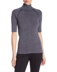 Kenneth Cole - Metallic Zip Elbow Length Jumper - Lyst