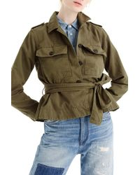 J.Crew - Cropped Fatigue Jacket - Lyst