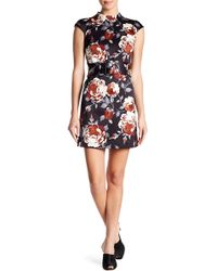 Theory - Mod Belted Floral Dress - Lyst