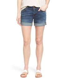 Caslon - Rolled Denim Boyfriend Shorts (petite) - Lyst