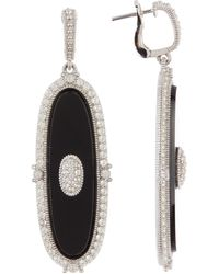 Judith Ripka - Sterling Silver Westport Elongated Oval Slice Dangle Earrings - Lyst