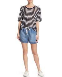 Splendid - Slub Frayed Denim Shorts - Lyst
