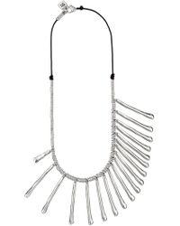 Uno De 50 - Let It Rain Silver-tone Mixed Size Stick Necklace - Lyst