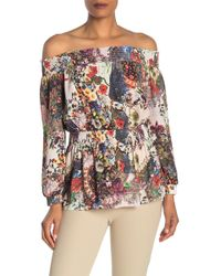 5d552c03b08ac Vince Camuto · Nicole Miller - Off-the-shoulder Floral Blouse - Lyst