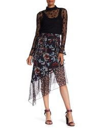 Anna Sui - Birds & Roses Crepe Skirt - Lyst