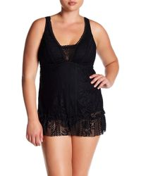 Becca - Rose Lace Skirted One-piece Swimsuit (plus Size) - Lyst
