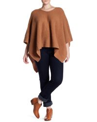 Naked Cashmere | Hillary Textured Cashmere Poncho (plus Size) | Lyst