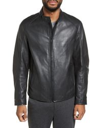 Calibrate - Modern Leather Jacket - Lyst
