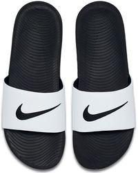 6e2a06cfadcb Lyst - Nike Kawa Shower Marble Slide Sandal in White for Men