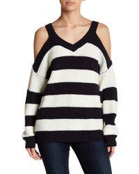 Vero Moda - Sibbo Cold Shoulder Striped Sweater - Lyst