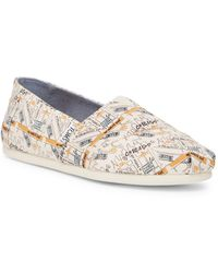 TOMS - Classic Chicago Printed Natural Canvas Slip-on Shoe - Lyst