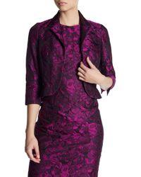 Carmen Marc Valvo - Floral Brocade Jacket - Lyst
