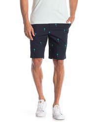 Original Penguin - Palms Print Straight Fit Shorts - Lyst