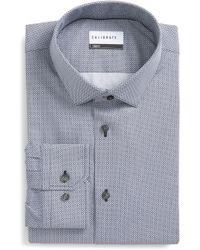 Calibrate - Trim Fit Geometric Dress Shirt - Lyst