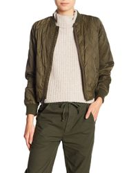 Vince - Quilted Bomber Jacket - Lyst