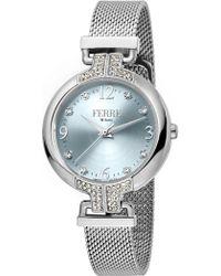 Ferrè Milano - Women's Crystal Accented Mesh Bracelet Watch, 32mm - Lyst