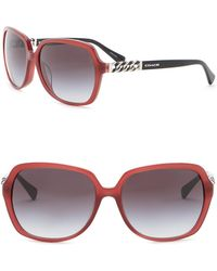 COACH - 59mm Square Sunglasses - Lyst