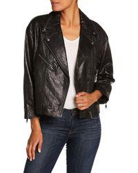 Joie - Leather Biker Jacket - Lyst