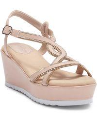 Elegant Footwear - Aletta Wedge Sandal - Lyst