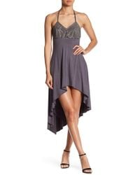 Sky - Embellished Bodice Halter Dress - Lyst