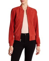 Andrew Marc - Leigh Suede Bomber Jacket - Lyst