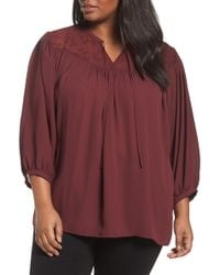 Sejour - Embroidered Peasant Blouse - Lyst