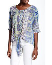 Sienna Rose - Elbow Sleeve Bottom Tie Shirt - Lyst