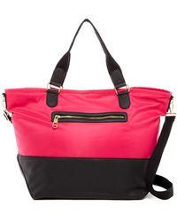 Madden Girl - Cori Nylon Faux Leather Weekend Bag - Lyst
