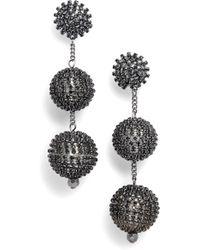 Tasha - Crystal Ball Drop Earrings - Lyst