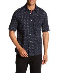 Benson - Starfish Print Short Sleeve Modern Fit Shirt - Lyst